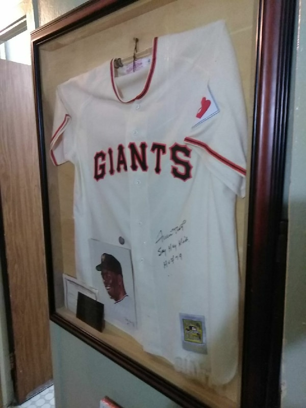 best service ea976 ea5fc Frame Willie Mays Say Hey Kid Jersey