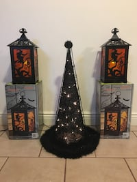 Halloween tabletop lanterns and witches hat Butler, 07405