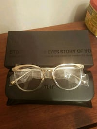 clear eyeglasses with silver frames 539 km