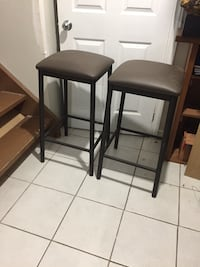 two black wooden bar stools Mississauga, L4Y