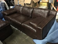 Brown leather king sofa Los Angeles, 90011