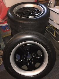 5-lug car wheel with tire set....