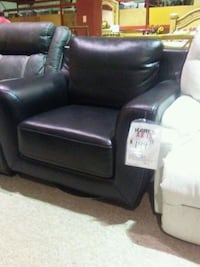 black leather sofa chair with ottoman Fort Myers, 33907