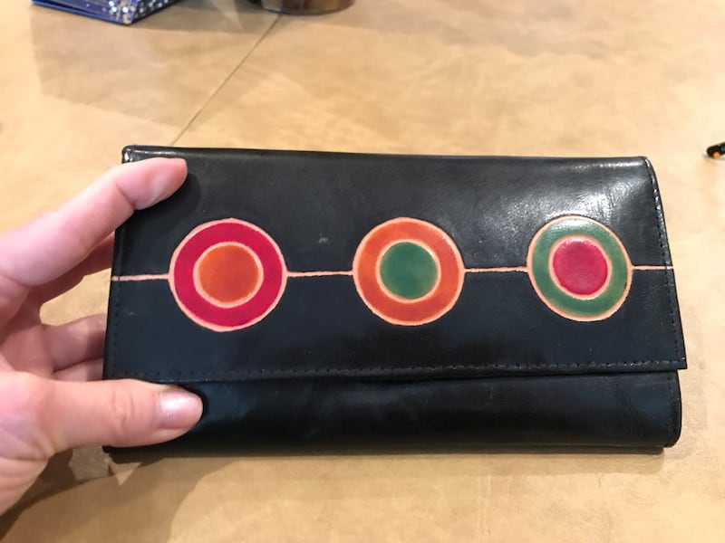 Black leather african long-wallet with pockets 1b6ac6c3-a848-48dc-b698-7b228d7d20d6