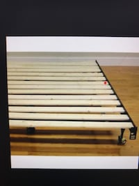 Full or Queen Wood Slats Metal Frame Bed, will Deliver ! Washington