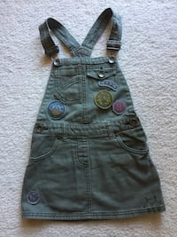 Girls Denim Bib 'n' Brace Dress Pinafore - Age 4