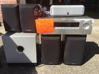 black and gray home theater system Auburn, 98002