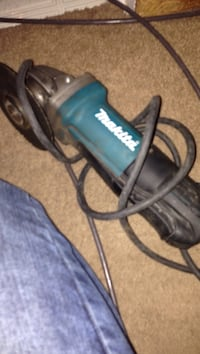 Black and blue makita corded angle grinder Calgary, T2E
