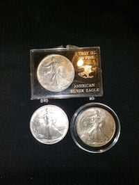 Silver Eagles with key date 1996