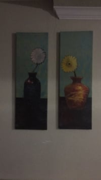 two brown wooden framed painting of flowers McKinney, 75070