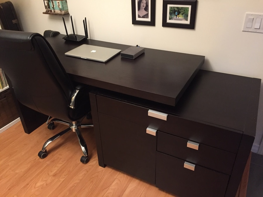 Espresso Brown L Desk In Toronto Letgo