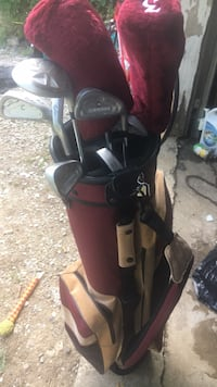 Golf clubs with new gold bag Charleston, 61920