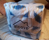 Alcove Blue Hexagon 8 pc Bed Set NEW Mobile
