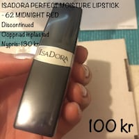 ISADORA PERFECT MOISTURE LIPSTICK 62 MIDNIGHT RED helt ny Sollentuna, 192 69