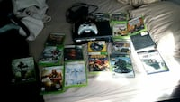 Xbox 360 console with controller and game cases Fontana, 92335