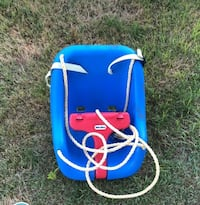 blue and red plastic swing Grand Island, 14072