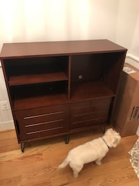 Brown media cabinet (mid century style) Alexandria, 22301