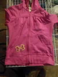 Little girls pink Under Armour zip-up hoodie