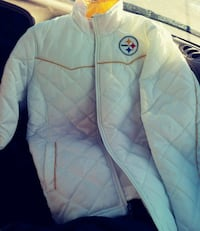 white and yellow Steelers Women's jacket  Amarillo