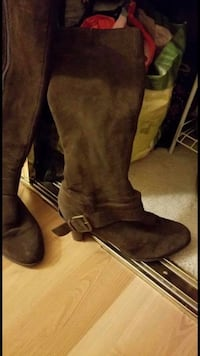 pair of brown suede knee-high boots Antelope, 95843