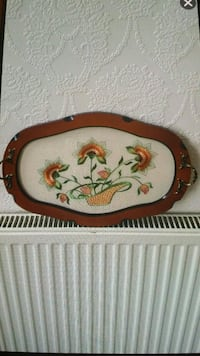 brown wooden tray with flower painting Coventry, CV6 5EF