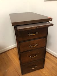 Brown Wood Single Desk Drawers with writing tray Riverdale Park, 20737
