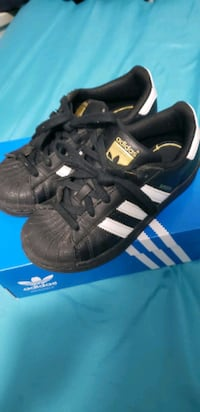 New kids Adidas shoes size 12K only used 2 times