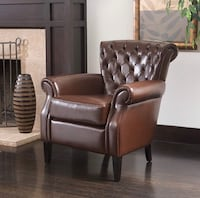 Tufted Leather Club Chair - brand new  Huntsville, 35806