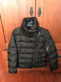 Marco New York (Andrew Marco) Black zip-up bubble jacket. Woman size: Large Reston, 20191