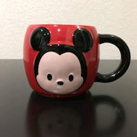 New red and black Mickey Mouse ceramic mug Chicago, 60647