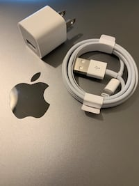 Lightning to USB Cable + Power Adapter (Genuine New) West Vancouver, V7T 1A9