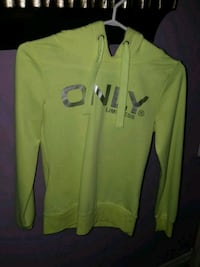 Bright neon yellow sweater with silver writing  Brampton, L7A 1K2