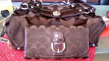 Brown purse and matching wallet..make a offer