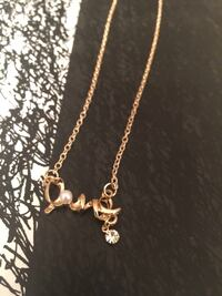 Gold tone love necklace Crowley, 76036