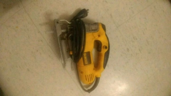 yellow and black DeWalt power tool