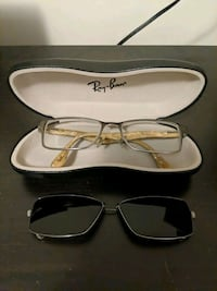 Men's Ray-Ban Glasses Frame plus Clip-on Sunglasses Lens