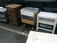 three brown wooden side tables Los Angeles, 91352
