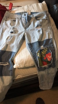 two black and white denim jeans Semmes, 36575