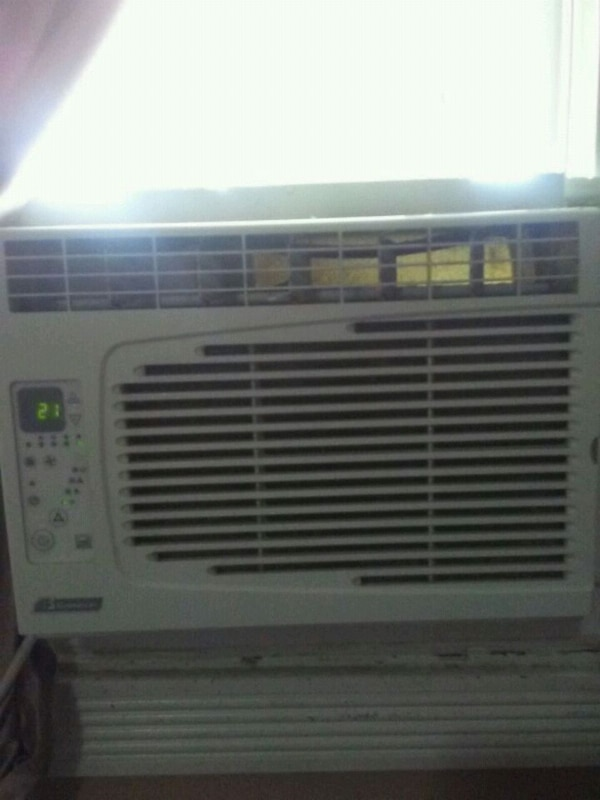 white window-type air conditioner