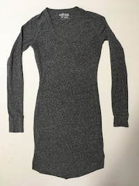 TNA Aritzia Dress Longsleeve Grey Size Extra Small Womens Clothing Edmonton, T6J 0X5