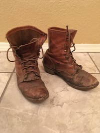 Justin lace up boots size 9 Midwest City, 73110