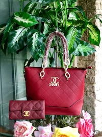 red leather Chanel tote bag Falls Church, 22042