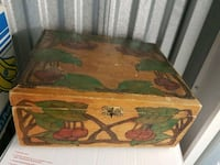 VINTAGE HAND PAINTED WOOD BOX Delta, V4C 6P5