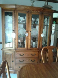 brown wooden china cabinet with glass Green Township, 07821