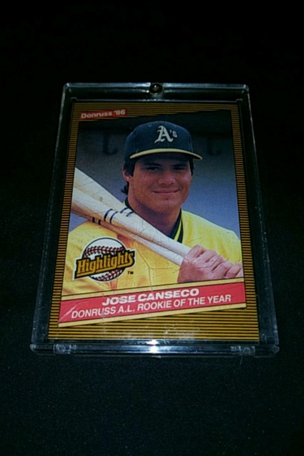 1986 Dunross Leaf Jose Canseco Rookie Card