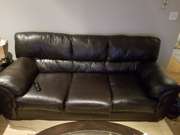 Used Leather couch NYC for sale in New York - letgo