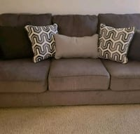 gray fabric 3-seat sofa Falls Church, 22041
