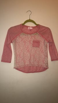 S 7/8 Long Sleeve T-Shirt for Girls New York