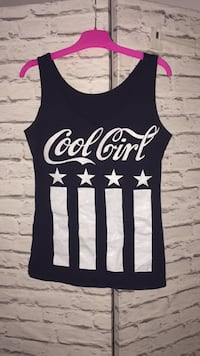 svart og hvit Cool Girl tank top