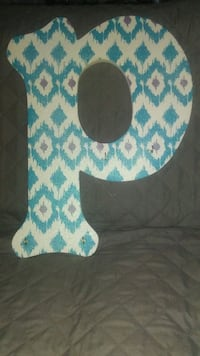 Hand Painted Letter 'P' High Springs, 32643